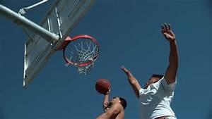 Super Slow Motion Shot Of Basketball Basketball Slam Dunk ...