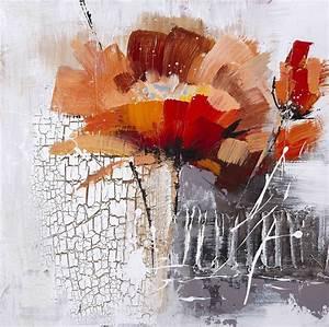 Tableau Fleurs Moderne : tableau de peinture moderne fleur ~ Teatrodelosmanantiales.com Idées de Décoration