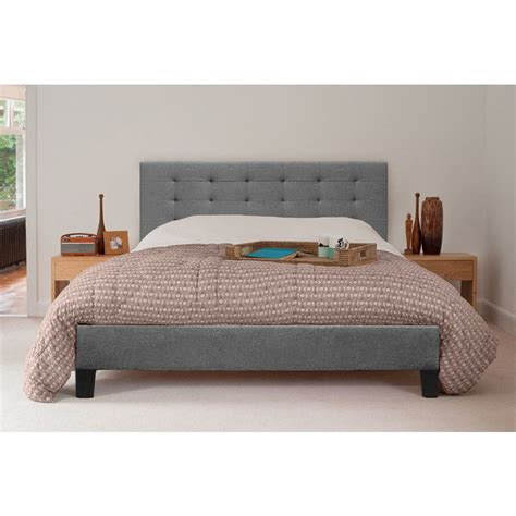 kensington king size fabric bed frame  grey