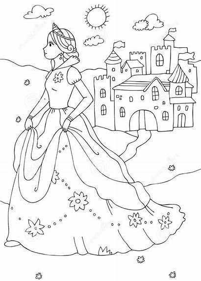Castle Princess Coloring Pages Castles Colouring Printable