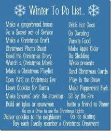 holiday corner winter to do list ideas of things to do in the cold snowy months it s a