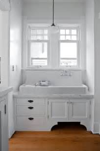 Chrome Framed Mirror by Apron Front Bathroom Sink Kitchen Traditional With Cabinet