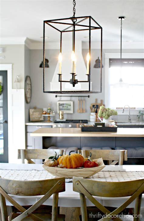 pretty  light fixture   kitchen  thrifty