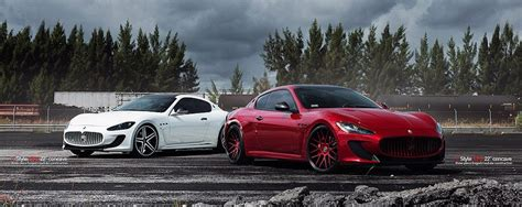 Red And White Maserati Gran Turismo Mc On Vellano Forged
