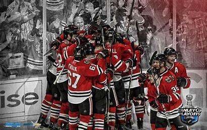 Blackhawks Chicago Goal Background Desktop Stanley Cup