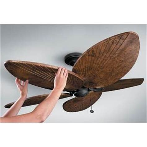 palm leaf ceiling fan living room