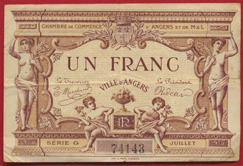 1 franc chambre de commerce d 39 angers fdcollector