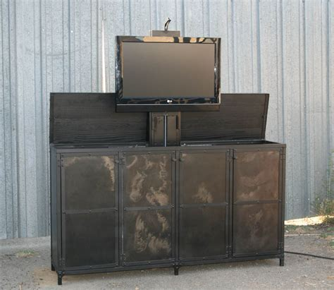 Combine 9   Industrial Furniture ? Industrial Motorized TV