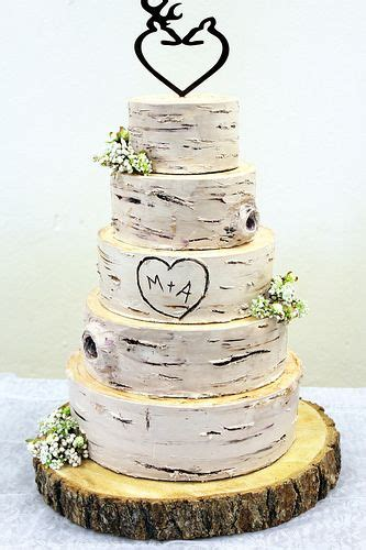 birch wedding cakes ideas  pinterest wedding