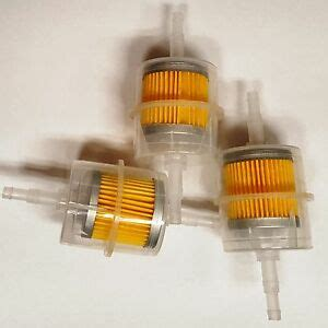 Clear Inline Fuel Filter by 5 16 Inline Fuel Filter Clear Plastic Lot Of 3 Pcs Ebay