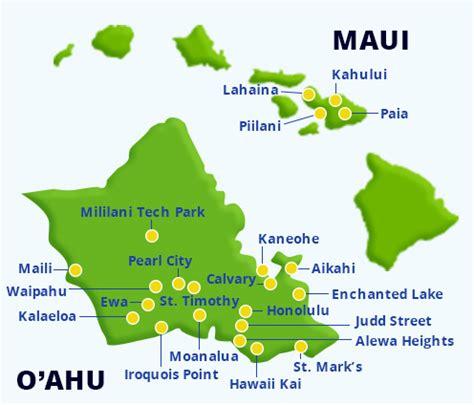 aina hawaii child care hawaii preschools 450 | kamaaina kids preschool map