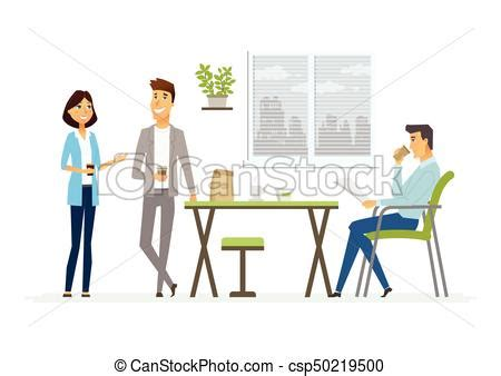 12667 business lunch meeting clipart business lunch modern vector characters