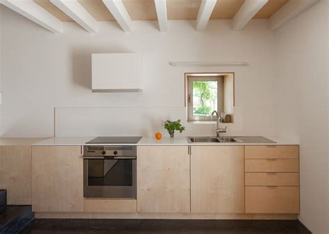 plywood kitchen design birch plywood was used to this limited budget renovation 1562