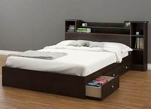 Lit Double Avec Rangement : lit double rangement maison design ~ Teatrodelosmanantiales.com Idées de Décoration