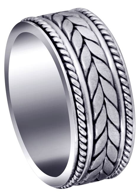 woven mens wedding band satin finish diego frostnyc