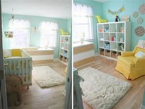 Chambre Bebe Jaune : chambre d enfant jaune et bleu nursery nursery decor and room ~ Nature-et-papiers.com Idées de Décoration