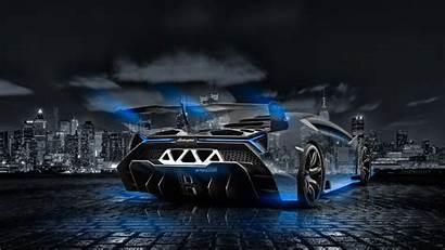 Lamborghini Veneno Crystal Wallpapers Night 3d Neon