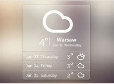 Free PSD weather widget Freebiesbug