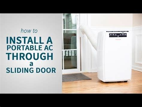 install  portable air conditioner   sliding door sylvane sliding glass door