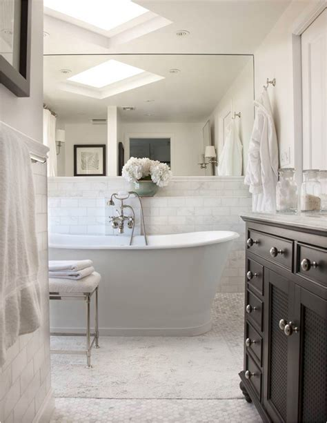 Cottage Style Bathroom Design Ideas  Room Design Ideas. White Nesting Tables. Yellow Rugs. Rustic Dining Room Lighting. Barden Homes. Bay Window. Gray Stained Concrete Floors. Spiral Chandelier. Oyster Shell Chandelier