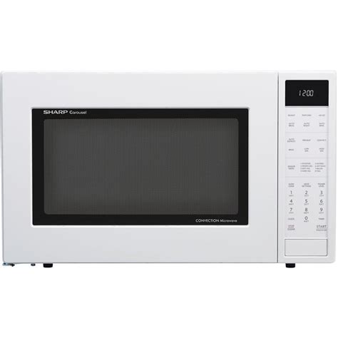 Sharp Microwave Ovens Countertop by Sharp 1 5 Cu Ft Countertop Convection Microwave In White