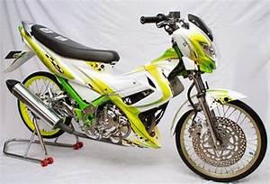 Modifikasi Motor Satria Fu Velg Jari