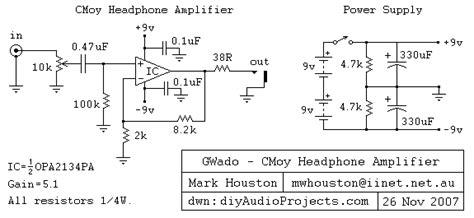 Gwado Diy Cmoy Grado Headphone Amplifier