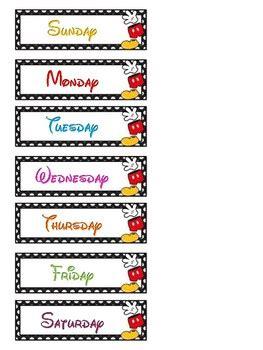 mickey days   week cards  leonor aranda tpt