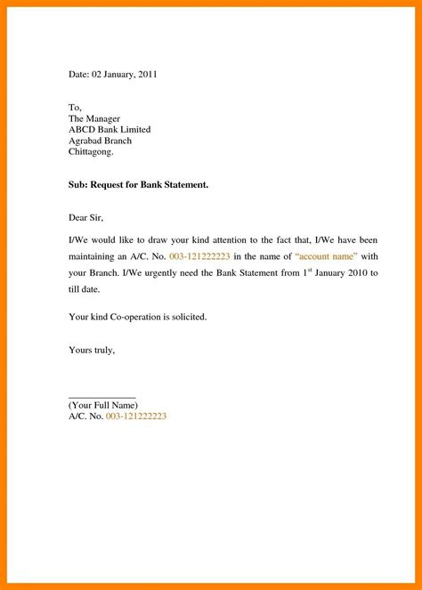 request letter  bank statement  application  bank
