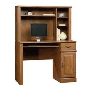 sauder orchard hills computer desk with hutch in milled