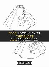 Poodle Skirt Template Multiple Sizes Templates Them sketch template