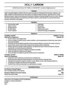 firefighter resume template free firefighter resume exles emergency services sle resumes livecareer misc