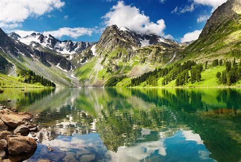 Фотообої Гірське озеро купити на стіну • Еко Шпалери
