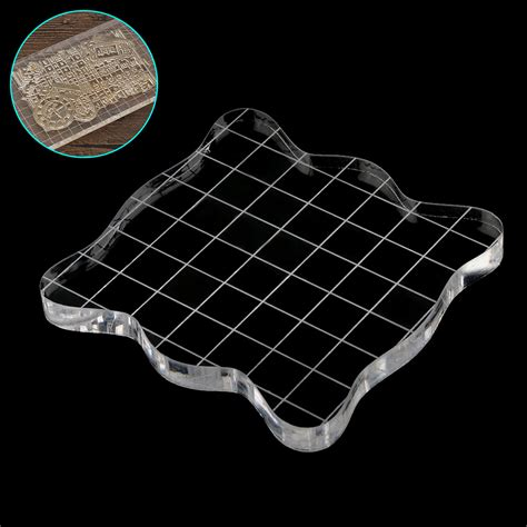 pcs  clear transparent stamp scale acrylic pad diy