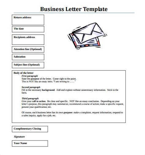 sle business letter format with sle business letter format 8 free documents download