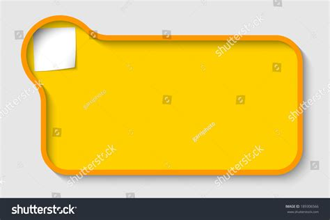 Yellow Text Box For White Text With Paper For Note Stock