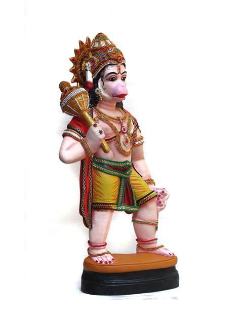 Hanuman Idol with gada in Fibre (65 cm height)-Bajrangbali ...
