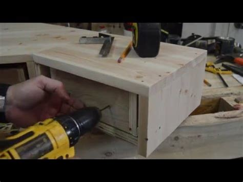 pallet wood monitor desk riser  drawers