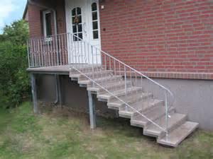 naturstein treppe treppe aussen haus eingang podest naturstein granit beton stufe tritt beige ebay