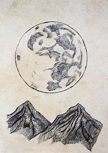 The moon, Etchings and Full moon on Pinterest