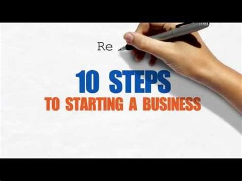10 Steps To Starting A Business Youtube