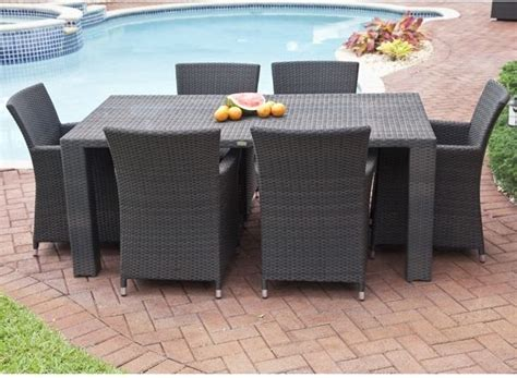 antiqua collection outdoor wicker dining table and chairs