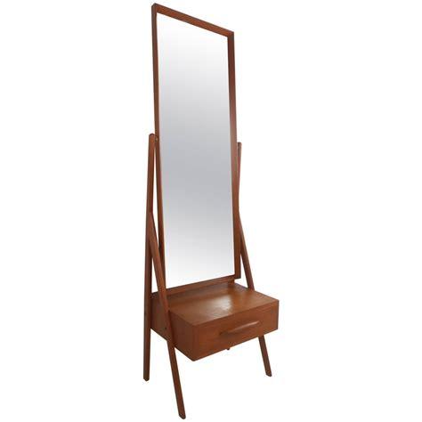 Midcentury Modern Arne Vodder Teak Cheval Dressing Mirror