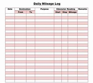 Record Mileage 26 Printable Mileage Log Examples In Pdf Excel Ms