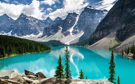 Desktop Wallpapers Banff Canada Moraine Lake Alberta