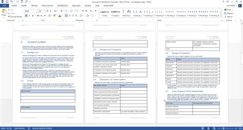 conops template concept of operations template