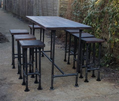 industrial high top table high gas pipe bar table this impressive industrial style