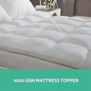 1000gsm mattress topper pillowtop duck feather down pillow for Down pillow toppers for mattresses