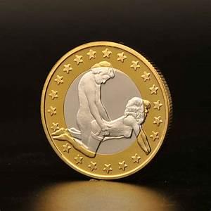 Hot Sales 100pcs/lots Aluminum Alloy Coin Euro Coins
