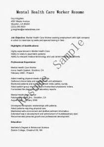 resume for healthcare workers resume exles mental health worker pd